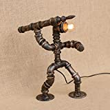 Pumpink Edison Retro Roboter Speer Hand Schreibtisch Licht Alte Industrie Studie Restaurant Bar Cafe Tischlampe Leselampe Kreative Eisen Kunst Gun Wasserrohr Tischleuchte