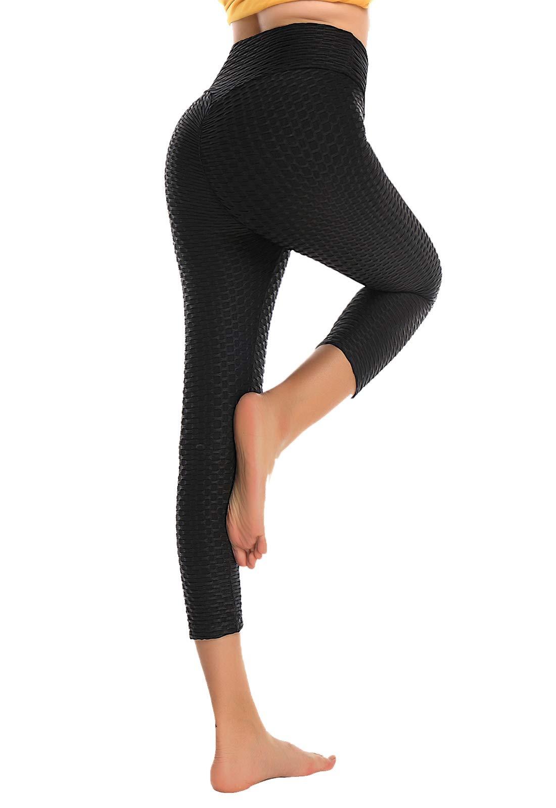 SEASUM Pantaloni Tuta da Donna Yoga Pants Push up Leggings Sportivi Anticellulite Elastici Collant
