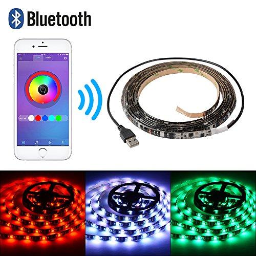 XCSOURCE 5M Bluetooth USB RGB 5050 Tira De Luces LED Control Inteligente...