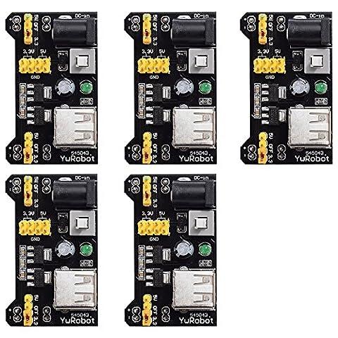 XCSOURCE® 5X Nouveau 3.3V 5V sans soudure MB102 Platine d'expérimentation Adaptateur Module d'alimentation Pour Platine d'expérimentation Arduino TE107