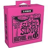 Ernie Ball Super Slinky 3223 - Juego de cuerdas para guitarra eléctrica, 9 - 42 (3 sets)