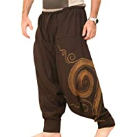 EUFANCE Pantaloni da Uomo Harem Comodi Pantaloni Elastici in Vita Pantaloni Casual Hippies Yoga Tinta Unita