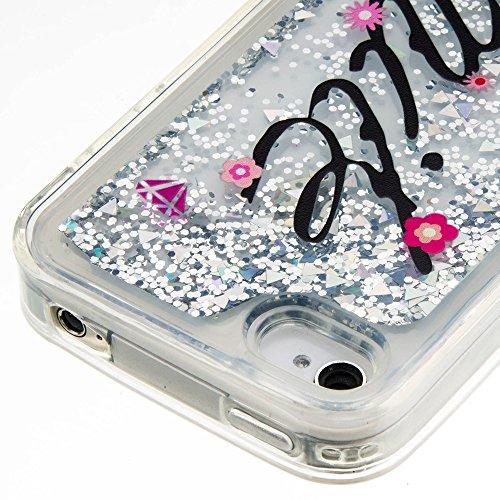 iPhone 4 / iPhone 4S Hülle,SKYXD Glitzer Flüssig Wasser Kreativ Design Weiche Silikon Gel Gummi [Nicht Hard Case] Brillianter Leichtes Glatt Schutzhülle mit [Handyanhänger + Eingabestifte] Handy Tasch Color-13