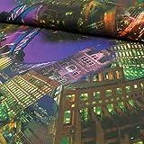 Viskosejersey Marita Digitaldruck WolkenkratzerAmerika - Preis gilt für 0,5 m -