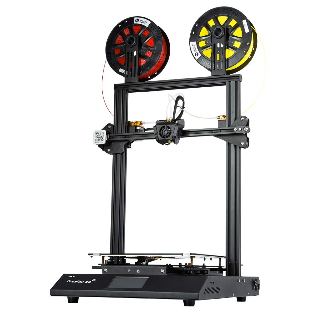 Wisamic Creality CR-X Imprimante 3D – Deux couleurs avec écran tactile coloré de 4,3 pouces, Système de refroidissement à double ventilateur, Format d'impression 300x300x400mm