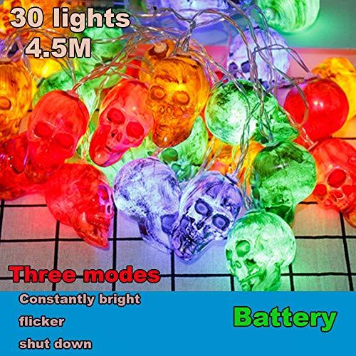 FreF Smart Solar Halloween Kürbis Lichterkette 30 LEDs Urlaub Dekoration Lichter Indoor und Outdoor Party, 4.5m Kürbis - Solar Power Kostüm