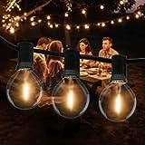 Catena Luminosa Esterno, Litogo 9,5m Luci da Esterno LED Catene Luminose per Esterni con 25+2 G40 Filo Lampadine Luminarie Lu