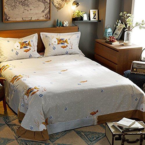 qwert Reiner Baumwolle Bett schleifblätter Einzigen Schlafzimmer-blätter Doppel-Bett-Blatt-D 245x270cm(96x106inch) (X 96 106 Bettbezug)