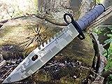 U.S. Military Knives U.S. Army M-9 Typ-3C - Camo Militär M9 Multipurpose Bajonett mit extrem Sägerücken - taktisches Kampfmesser - Jagdmesser -