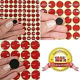 3M VHB Acrylschaum-Kreis Punkte ~ doppelseitige Klebepunkte ~ 10 mm, 14 mm oder 25 mm im Durchmesser x 0,64 mm dick ~ Modell: VHB5925, Schwarz, 5 Individual Dots