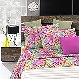 Italian Bed Linen Fantasy Bettwäsche, Mikrofaser, Mehrfarbig, 1Platz und Halb