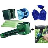 COSYROOMY Fahrrad Reinigung Set - Fahrrad Ketten Reinigung - 4-in-1 Multifunktions-Kette Reinigungswerkzeug, 2 Reinigungshandschuhe & 1 Stillhandtuch