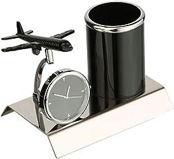 Tiamo Aeroplane Designed Multiuse Clock and Penstand for Gifts