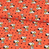 Stoffe Werning Baumwolljersey Lizenzstoff Peanuts Snoopy &