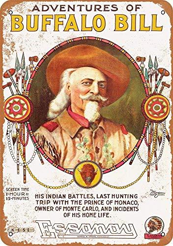 KODY HYDE Metall Poster - Buffalo Bill's - Vintage Blechschilder Retro Dekoration Schild Aluminium Wandkunstplakat Zum Bar Cafe Büro Pub Wohnzimmer Garage