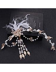 &zhou Tocado nupcial de la joyería del pelo por los accesorios 33 * 16cm del vestido de boda de la mano