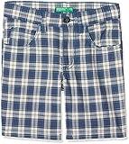 United Colors of Benetton Pantaloncini Bambino, Blu (Blue Checks Bermuda 930), Taglia unica (Taglia Produttore: 2y)