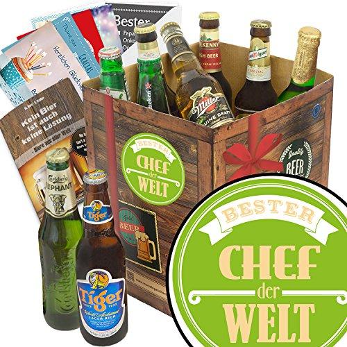 Bester Chef   Bier – Geschenkset mit Bieren aus aller Welt   Geschenkset