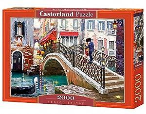 CASTORLAND Venice Bridge 2000 pcs Puzzle - Rompecabezas (Puzzle Rompecabezas, Ciudad, Niños y Adultos, Niño/niña, 9 año(s), Interior)