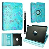 Kamal Star® Apple iPad Mini 4 Ultra Slim Cover Smart Leather Case with Stand / Auto Sleep Wake-up+Free Stylus (Rose Sky