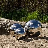 3er Köhko Gartenkugeln 10, 15 und 20 cm poliert aus hochwertigem Edelstahl Dekokugeln-Set 10-15-20