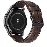 MroTech 22mm Bracelet Compatible avec Samsung Galaxy Watch 46mm Bracelet Cuir Gear s3 Frontier Bracelet de Remplacement pour