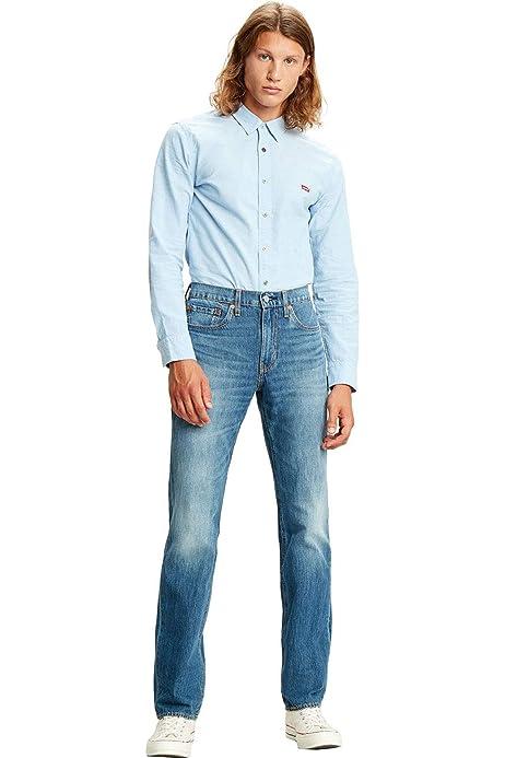 Levis® 514 (TM) Pantalones vaqueros para hombre de corte recto Matcha Green Cool W28-W38, tejido elástico 98% algodón: Amazon.es: Ropa y accesorios