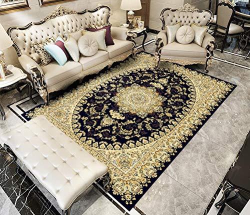 Traditionelle Orientalische Teppich (QKa Traditionelle orientalische Teppiche Rutschfester Teppich für Wohnzimmer Schlafzimmer 160 x 230 cm (5,2 x 7,5 Fuß),18)