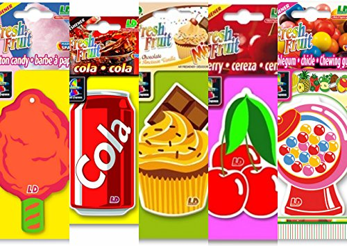 Preisvergleich Produktbild 5 L&D Fresh Fruit Lufterfrischer USA MIX Bubble Gum, Cherry, Cola, Cotton Candy, American Mix,