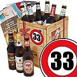 Geburtstags Geschenk Bier | Ostdeutsche Biere | Zahl 33 | Geschenk Idee Mama