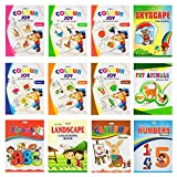 Colouring books set of 12 in King Size from Inikao