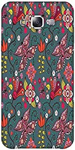 Snoogg Seamless Pattern With Butterflies And Flowers Designer Protective Back...
