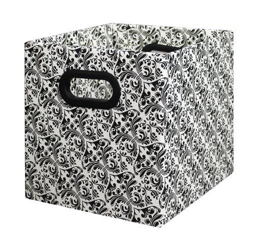 Bankers Box Unterbettkommode Box Cubby Bin - Black schwarz/weiß
