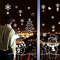 UU19EE Blanco muñeco de Nieve Adornos navideños para casa año Nuevo Sala de Estar Ventana de Cristal Fondo Decorativos Pegatinas