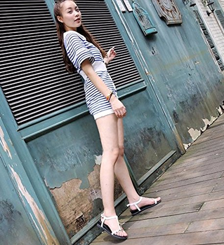 Respeedime Soft Flat with Sandals Female Simple Rome Casual Shoes