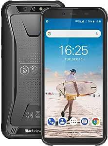 Blackview BV5500 (2020) Outdoor Smartphone ohne Vertrag Günstig - Dual SIM, 5.5 Zoll (13.9cm) HD Display, 4400mAh Akku, 16GB+2GB, 32GB erweiterbar, 8MP und 5MP, IP68 Handy - Face ID/OTG/GPS/WiFi