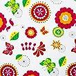 casa pura® Wachstischdecke Retro Flowers | abwaschbar | ideale Größe wählbar, Meterware (170x140cm)
