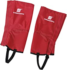 Generic 1 Pair Red Waterproof Hiking Climbing Snow Legging Gaiters Leg Covers - Small Size