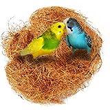 UEETEK Vogel Nest Kokosnuss Nest Bequemer Vogel Käfig Installationssatz für Sittiche Budgerigar und kleines Haustier