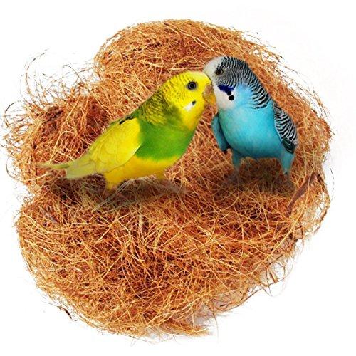 UEETEK Nido di uccello Nido di cocco comodo Kit di gabbia per uccelli per parrocchetti budgerigar e piccolo animale domestico