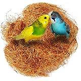 UEETEK Nido de pájaro Nido de coco Nido de pájaro cómodo Kit de jaula de pájaro para periquitos Budgerigar y pequeño animal doméstico