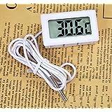 Waymeduo Thermomètre Thermomètre Numérique pour Aquarium Terrarium