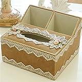 Tejido simple dibujo tejido caja multifuncional Salón Europeo de cartón Caja de almacenamiento,???2