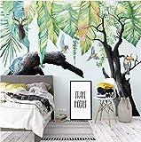 WH-PORP Benutzerdefinierte 3D Wandmalereien Moderne tropische Regenwald Pflanze verwelkte Baum Tier Fototapete Kinder Schlafzimmer Wohnzimmer Tapeten-450cmX300cm