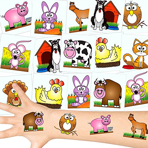 - Farm Tattoos Set ┃ Neu ┃ Tier Party ┃ Kindergeburtstag ┃ Mitgebsel ┃12 Tattoos ()