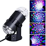 Adogo cambia colore RGB Sound Actived Crystal Magic rotating Ball effect LED Stage Lights per DJ Xmas party wedding pub disco Show Club