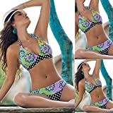 WDDBJN Bikini/Floral Badeanzug Frauen gepolsterter BH Bandage Set Badeanzug Dreieck Bademode Badebekleidung Suits