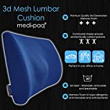 Medipaq - '3D' Mesh Orthopaedic Memory Foam Lumbar Support Cushion - with Air Circulation - Reduce Back Ache, Improve Posture [2018 Updated Version - Now with Adjustable Elastic Strap] Bild 3