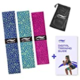 Victorem Rubber Loop Resistance Bands Set - Wiederstands Bänder Training für Bein und Po - Bonus Digital Workout Guide