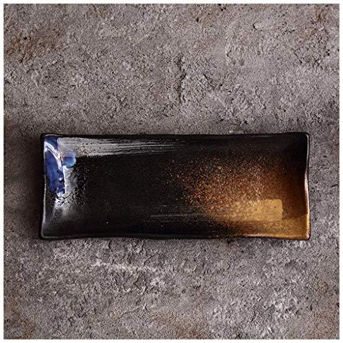 WCS Assortir Personnalité Créative Style Japonais Grès En Grès Sous Réduction De Glace Four À Flammes Céramique Poterie Plat Vaisselle Assiette Bol Cuillère (Color : H)